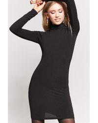 Forever 21 | Black Turtleneck Bodycon Dress | Lyst