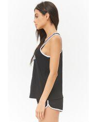 Forever 21 - Black Sleep All Day Graphic Pyjama Set - Lyst