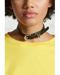 Forever 21 - Multicolor Buckle Faux Leather Choker - Lyst
