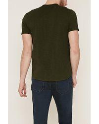 Forever 21 - Green 's Slub Knit Tee Shirt for Men - Lyst