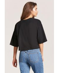 Forever 21 | Black High-low Tee | Lyst