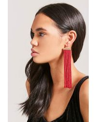 Forever 21 - Red Etched Tassel Earrings - Lyst