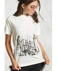 Forever 21 - Gray Distressed Sunset Boulevard Tee - Lyst