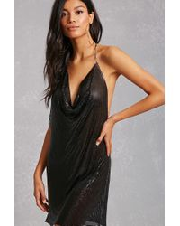 489f22401f Forever 21 Metallic Chainmail Dress in Black - Lyst