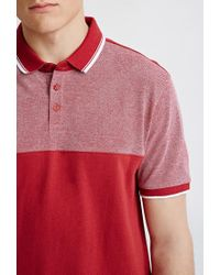 Forever 21 - Blue Colorblocked Piqué Polo for Men - Lyst