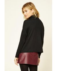 Forever 21 - Black Contemporary Boxy Turtleneck - Lyst