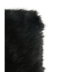 Forever 21   Black Faux Fur Infinity Scarf   Lyst