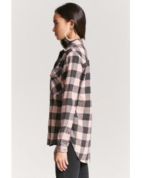 Forever 21 - Multicolor Distressed Buffalo Plaid Shirt - Lyst