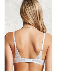Forever 21 - Blue Sheer Lace Bra - Lyst