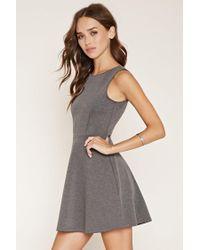Forever 21 | Gray V-back Skater Dress | Lyst