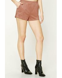Forever 21 - Natural Faux Suede Shorts - Lyst