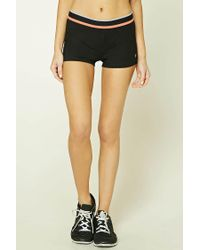 Forever 21 - Black Active Contrast Striped Shorts - Lyst