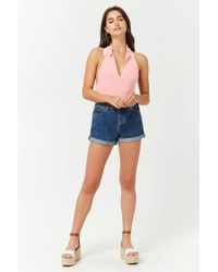 Forever 21 - Pink Sweater-knit Halter Top - Lyst