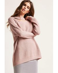 Forever 21 - Purple Lace-up Cutout Jumper - Lyst