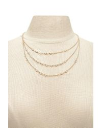 Forever 21 | Multicolor Rhinestone Layer Necklace | Lyst