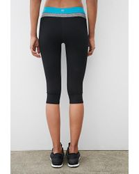 Forever 21 - Black Active Yoga Capri Leggings - Lyst