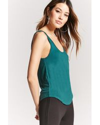 Forever 21 - Blue Scoop Neck Tank Top - Lyst