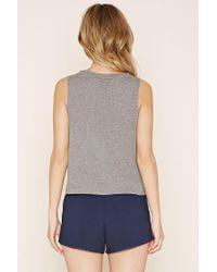 Forever 21 - Blue Pilates Graphic Pyjama Set - Lyst
