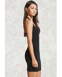 Forever 21 - Black Bodycon Crisscross Dress - Lyst
