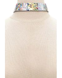 Forever 21 - Multicolor Holographic Grid Choker - Lyst