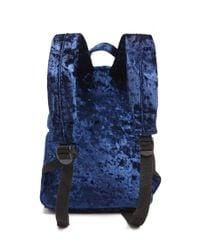 Forever 21 - Blue Crushed Velvet Backpack - Lyst