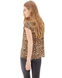 Forever 21 - Multicolor Cheetah Print Woven Top - Lyst