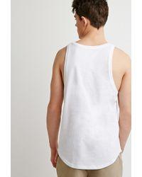 Forever 21 - White Curved-hem Tank for Men - Lyst