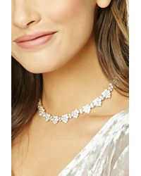 Forever 21 - Metallic Heart Collar Necklace - Lyst