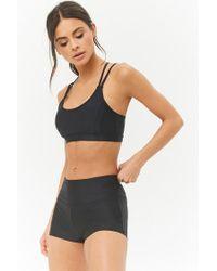 Forever 21 - Black Active Stretch-knit Bike Shorts - Lyst