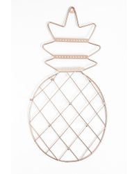 Forever 21 - Multicolor Metallic Wired Pineapple-shaped Jewelry Holder - Lyst