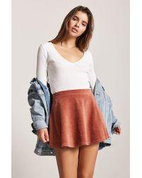 Forever 21 - Multicolor Corduroy Skater Skirt - Lyst