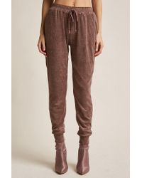 Forever 21 - Brown French Terry Knit Joggers - Lyst