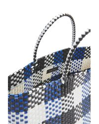 Forever 21 - Plastic Woven Tote Bag , Black/blue - Lyst