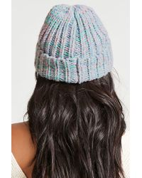 Forever 21 - Gray Marled Knit Foldover Beanie - Lyst