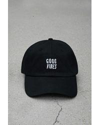 f0906b69ec8f2 Forever 21 Crshr Good Vibes Dad Cap in Black for Men - Lyst
