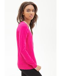 Forever 21 - Purple Classic V-neck Cardigan - Lyst