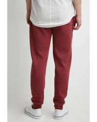 Forever 21 - Purple Drawstring Heathered Sweatpants for Men - Lyst