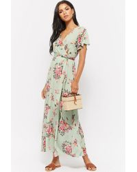 Forever 21 - Multicolor Floral Faux-wrap Maxi Dress - Lyst