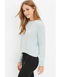 Forever 21 - Green Fuzzy Knit Sweater - Lyst