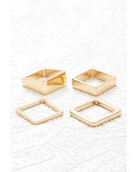 Forever 21   Metallic Square Ring Set   Lyst