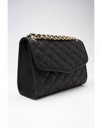 Forever 21 | Black Quilted Faux Leather Shoulder Bag | Lyst