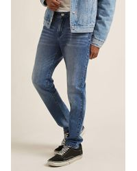 Forever 21 - Blue Faded Slim-fit Jeans for Men - Lyst