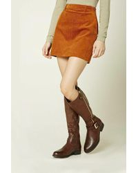 Forever 21 - Brown Knee-high Faux Leather Boots - Lyst