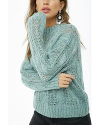 Forever 21 - Blue Women's Cable Knit Jumper Sweater - Lyst