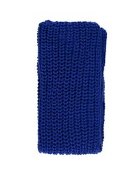 Forever 21 - Blue Chunky Ribbed Oblong Scarf - Lyst