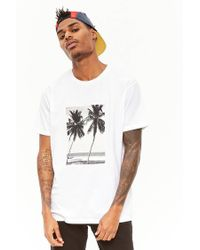 Forever 21 - White Beach Graphic Tee for Men - Lyst