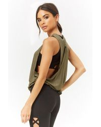 Forever 21 - Green Active Knotted Muscle Tee - Lyst