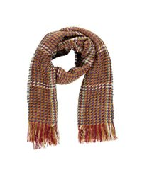 Forever 21 - Brown Contrast Stitched Oblong Scarf - Lyst