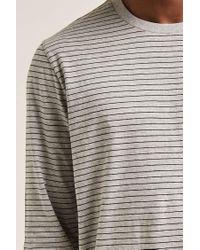 Forever 21 - Gray 's Striped Crew Neck Tee for Men - Lyst