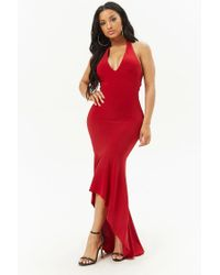 Forever 21 - Red High-low Halter Dress - Lyst